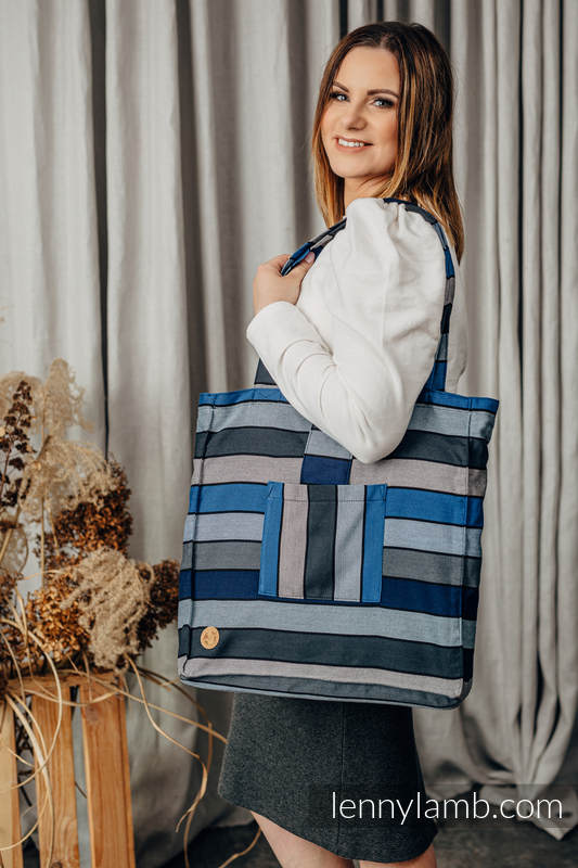 Shoulder bag made of wrap fabric (100% cotton) - WATERFALL  #babywearing