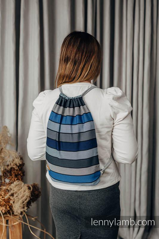 Sackpack made of wrap fabric (100% cotton) - WATERFALL - standard size 32cmx43cm #babywearing