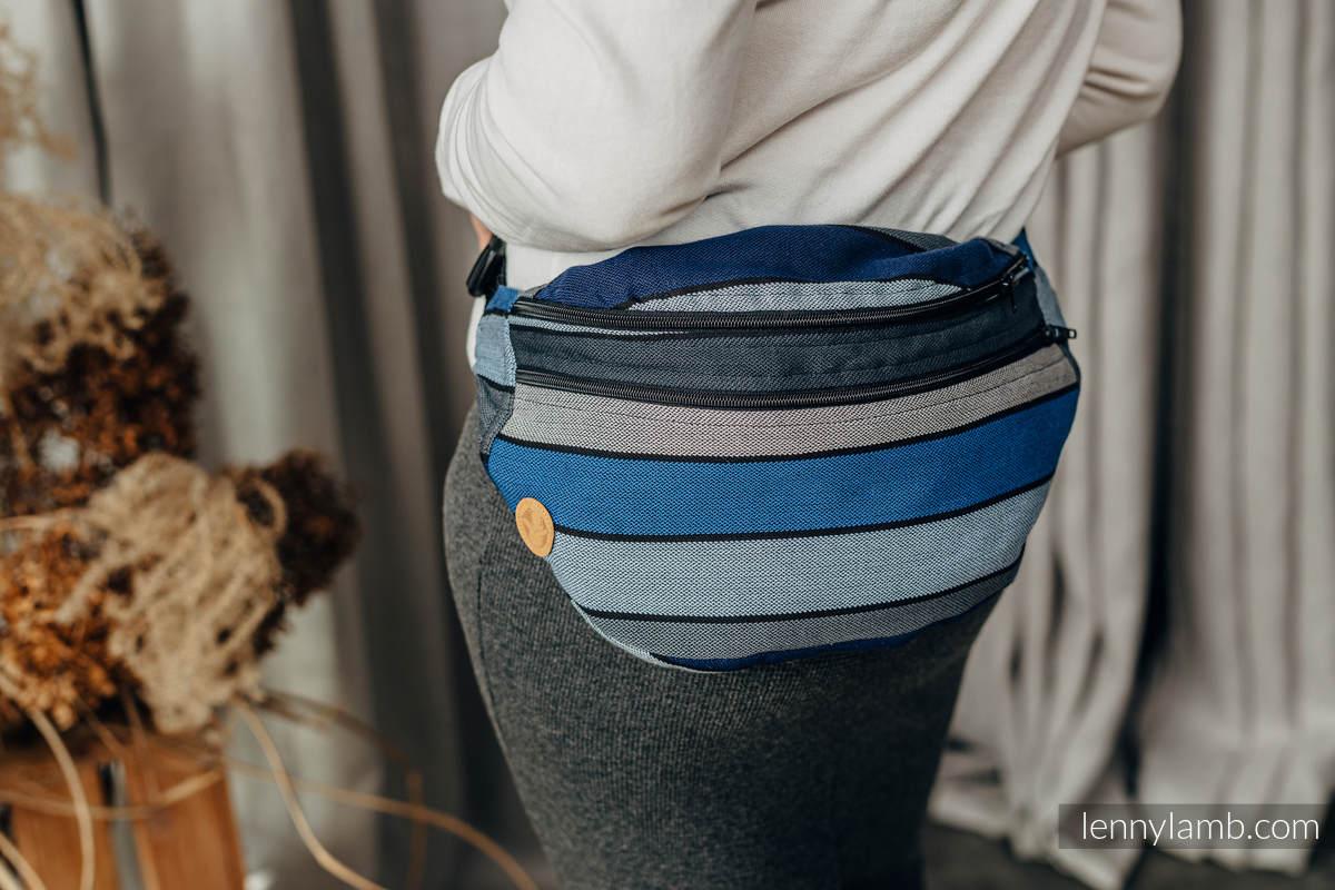 Waist Bag made of woven fabric, size large (100% cotton) -  WATERFALL  #babywearing
