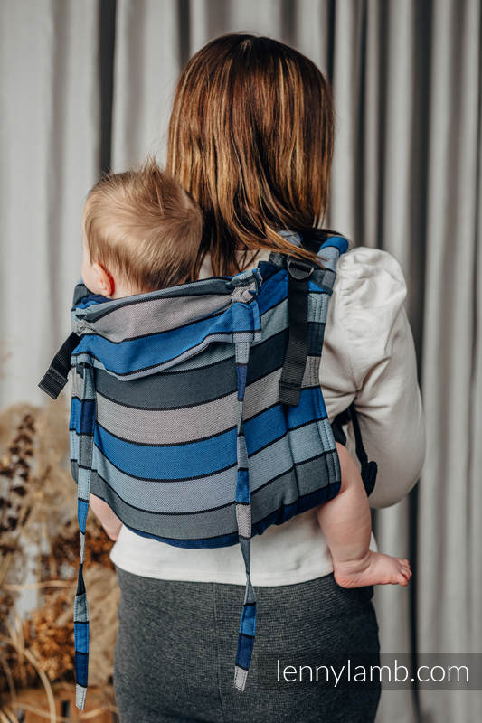 Lenny Buckle Onbuhimo baby carrier, standard size, broken-twill weave (100% cotton) - WATERFALL  #babywearing