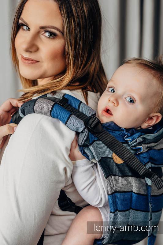 Nosidło Klamrowe ONBUHIMO z tkaniny skośno-krzyżowej (100% bawełna), rozmiar Standard - WODOSPAD  #babywearing