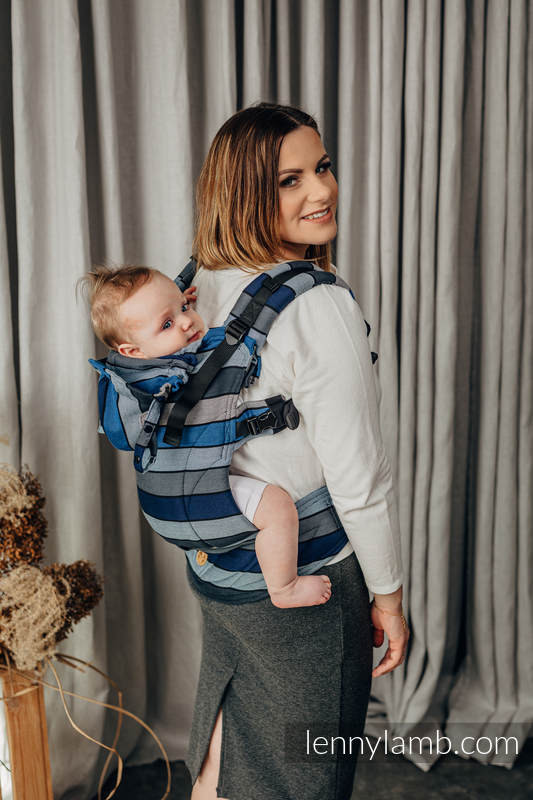 LennyGo Ergonomic Carrier, Baby Size, broken-twill weave 100% cotton - WATERFALL  #babywearing