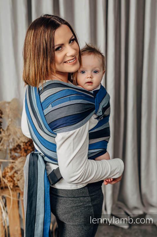 Nosidełko LennyHybrid Half Buckle, splot skośno-krzyżowy, 100% bawełna , rozmiar standard - WODOSPAD  #babywearing