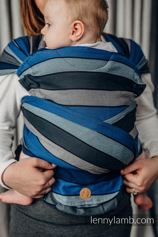 LennyHybrid Half Buckle Carrier, Standard Size, broken - twill weave 100% cotton - WATERFALL  #babywearing