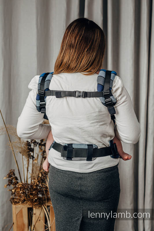 LennyUpGrade Carrier, Standard Size, broken-twill weave 100% cotton - WATERFALL  #babywearing