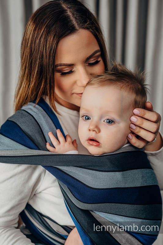 Baby Sling, Broken Twill Weave, (100% cotton) - WATERFALL - size M (grade B) #babywearing