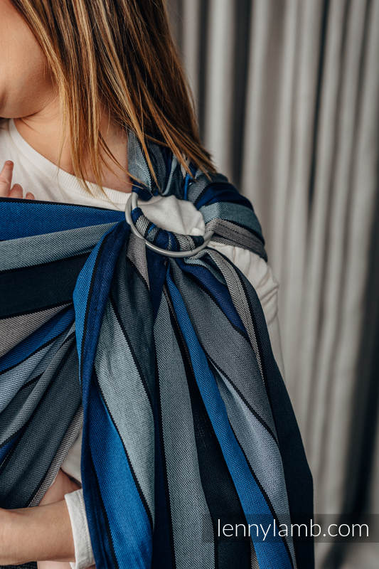 Ringsling, Broken twill Weave (100% cotton), with gathered shoulder - WATERFALL - standard 1.8m #babywearing