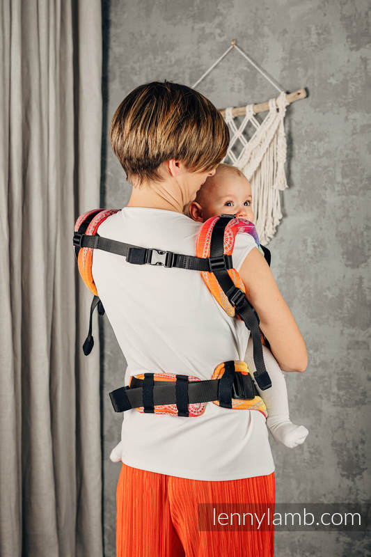 LennyUpGrade Carrier, Standard Size, jacquard weave 100% cotton - RAINBOW LACE SILVER  #babywearing