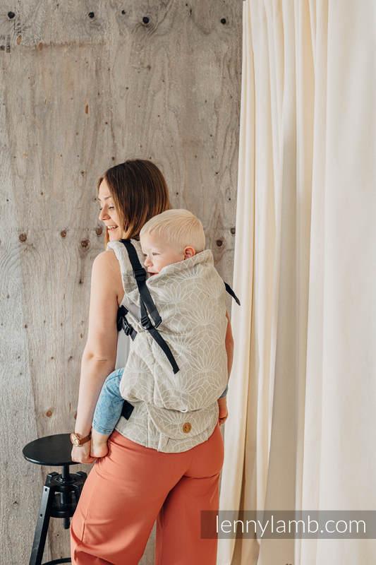 LennyPreschool Carrier, Preschool Size, jacquard weave 100% linen - LOTUS - NATURAL   #babywearing