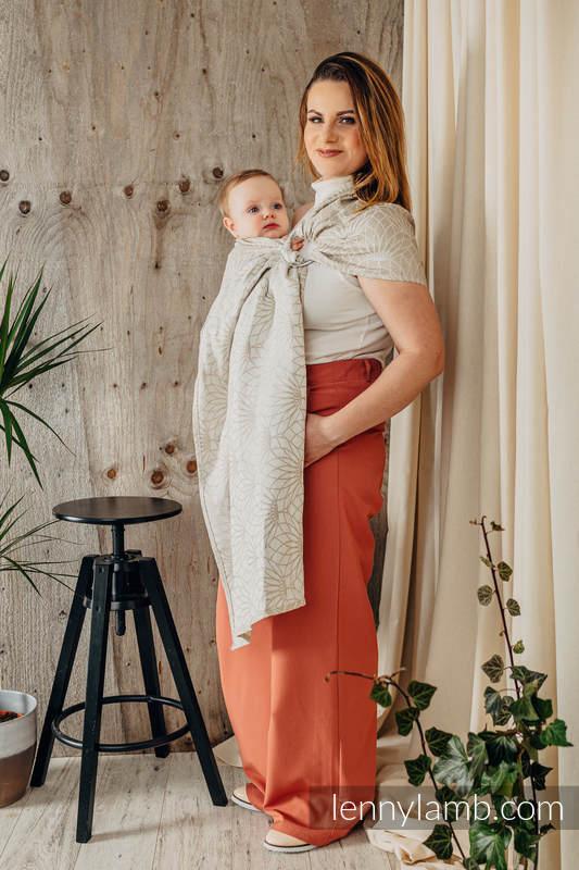 RingSling, Jacquardwebung (100% Leinen,) Raffung an den Ringen - LOTUS - NATURAL - standard 1.8m #babywearing