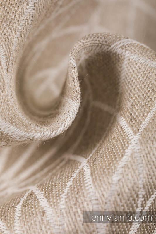 Baby Wrap, Jacquard Weave (100% linen) - LOTUS - NATURAL - size L #babywearing