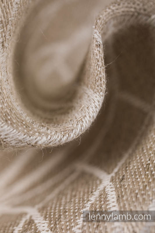 LennyUpGrade Carrier, Standard Size, jacquard weave, 100% linen - LOTUS - NATURAL  #babywearing