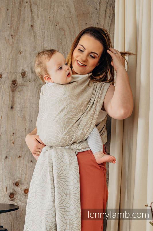 Baby Wrap, Jacquard Weave (100% linen) - LOTUS - NATURAL - size XS #babywearing