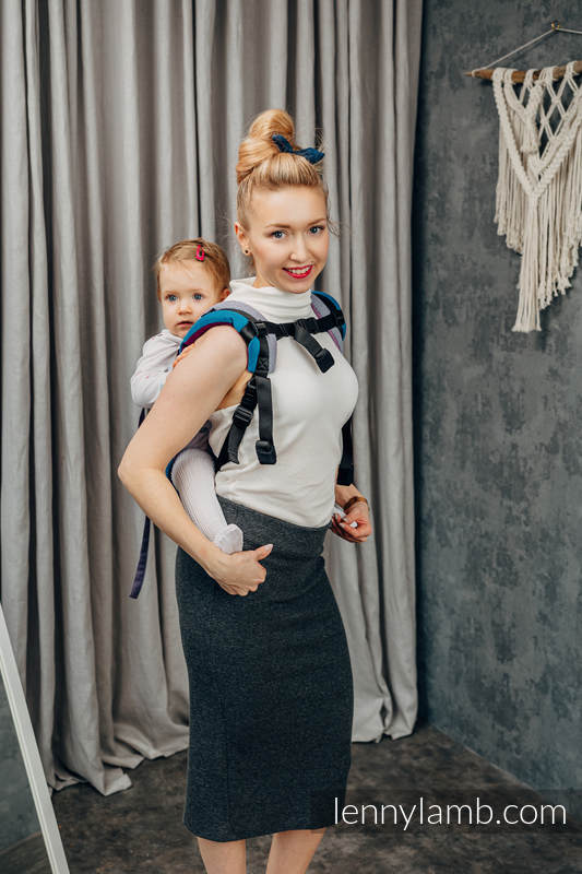 Lenny Buckle Onbuhimo baby carrier, toddler size, diamond weave (100% cotton) - DIAMOND NORWAY #babywearing