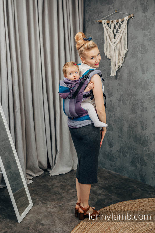 LennyGo Ergonomic Carrier, Baby Size, diamond weave 100% cotton - NORWEGIAN DIAMOND  #babywearing