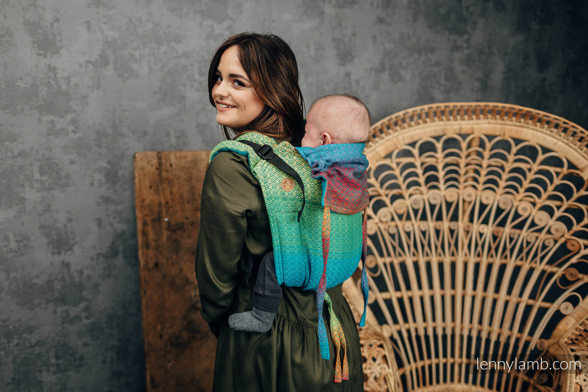 Onbuhimo de Lenny, taille toddler, jacquard (100% coton) - LITTLE LOVE JUNGLE #babywearing