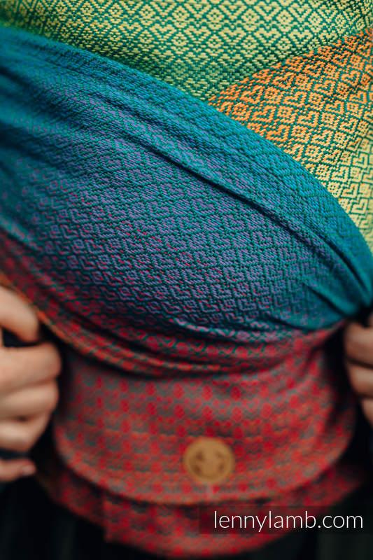 LennyHybrid Half Buckle Carrier, Standard Size, jacquard weave 100% cotton - LITTLELOVE JUNGLE #babywearing