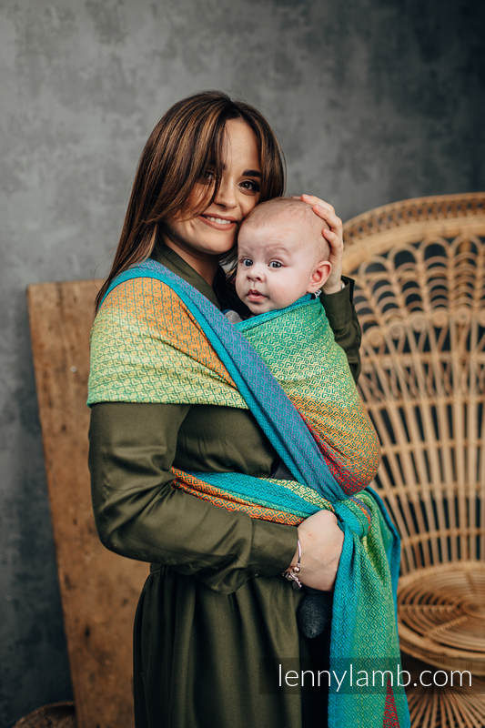 Baby Wrap, Jacquard Weave (100% cotton) - LITTLELOVE JUNGLE - size XS #babywearing