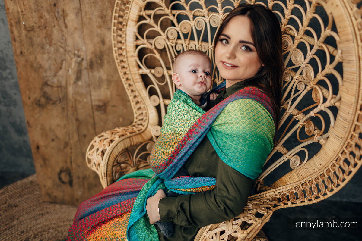 Baby Wrap, Jacquard Weave (100% cotton) - LITTLELOVE JUNGLE - size L #babywearing
