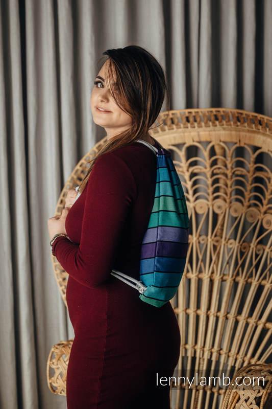 Turnbeutel, hergestellt vom gewebten Stoff (100% Baumwolle) - PROMENADE - Standard Größe 32cmx43cm #babywearing