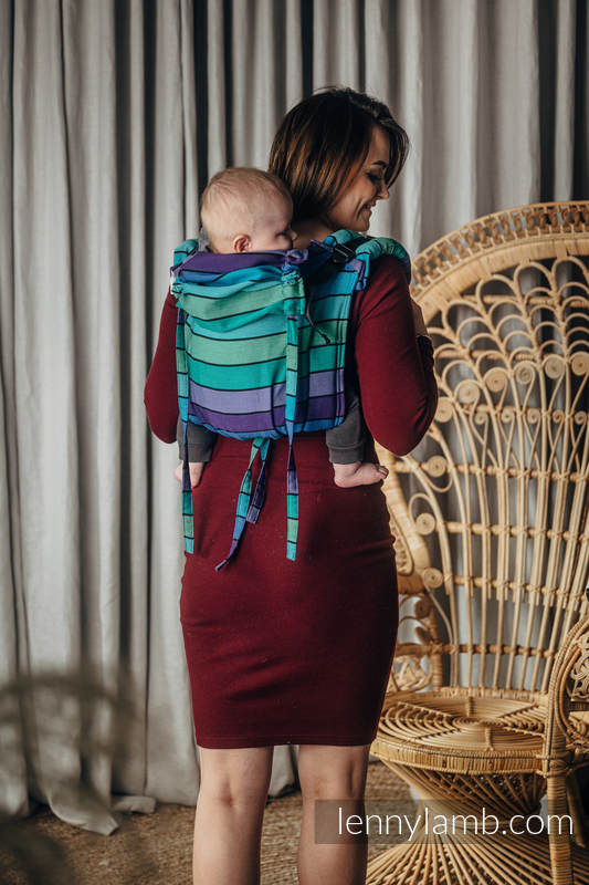 Lenny Buckle Onbuhimo baby carrier, TODDLER size, broken-twill weave (100% cotton) - PROMENADE  #babywearing