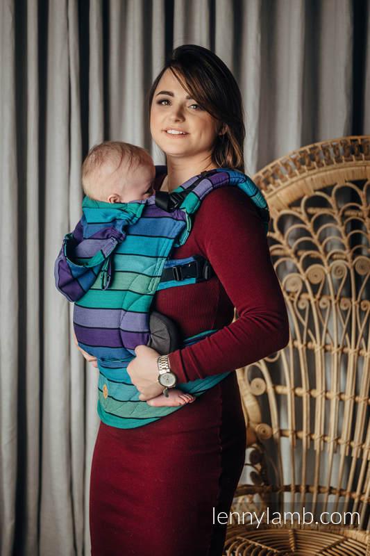LennyGo Ergonomische Tragehilfe, Größe Baby, Kreuzköper-Bindung, 100% Baumwolle - PROMENADE  #babywearing