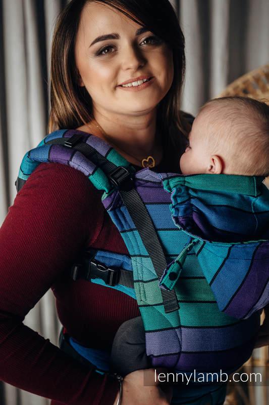LennyGo Ergonomic Carrier, Baby Size, broken-twill weave 100% cotton - PROMENADE  #babywearing