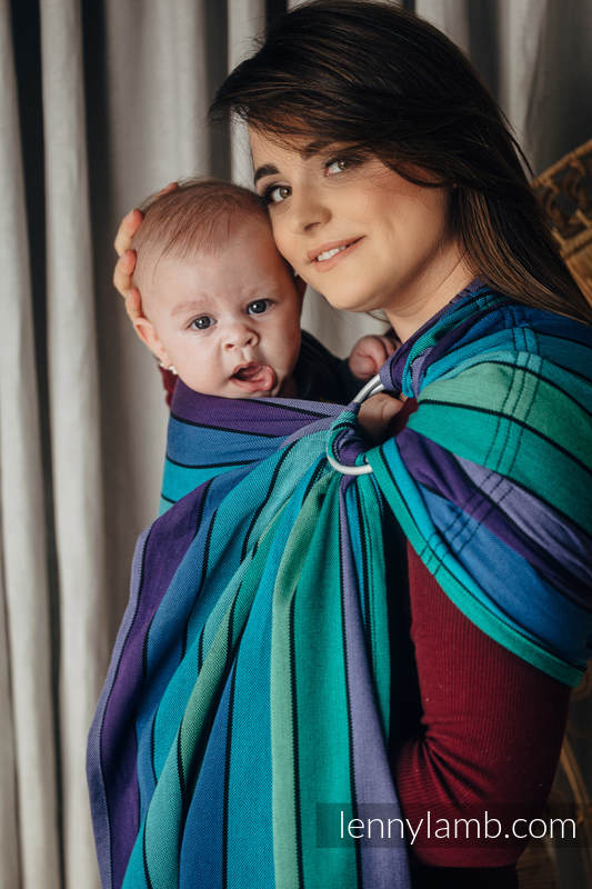 Ringsling, Broken twill Weave (100% cotton), with gathered shoulder - PROMENADE - standard 1.8m #babywearing