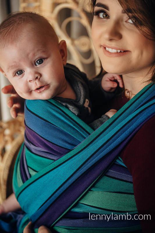 Baby Sling, Broken Twill Weave, (100% cotton) - PROMENADE - size XL #babywearing