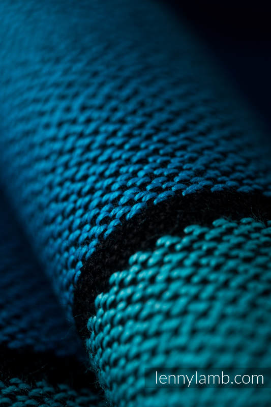 Chusta do noszenia dzieci, tkana splotem skośno-krzyżowym (100% bawełna) - PROMENADA - rozmiar XS #babywearing