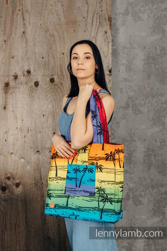 Shoulder bag made of wrap fabric (100% cotton) - RAINBOW ISLAND - standard size 37cmx37cm #babywearing