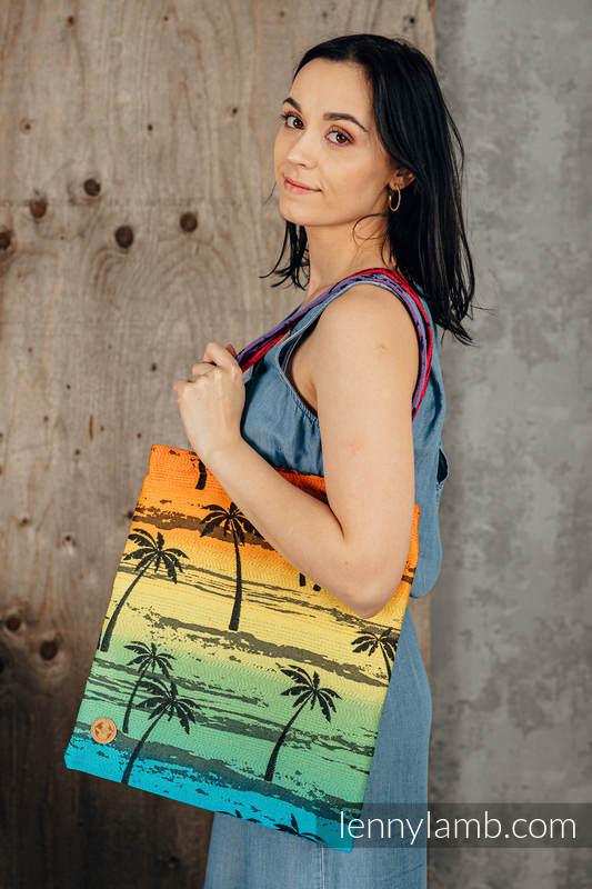 Shopping bag made of wrap fabric (100% cotton) - RAINBOW ISLAND  #babywearing