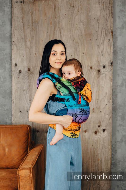 LennyGo Ergonomic Carrier, Toddler Size, jacquard weave 100% cotton - RAINBOW ISLAND  #babywearing