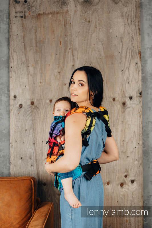 Nosidełko LennyUpGrade z tkaniny żakardowej 100% bawełna , rozmiar standard - TĘCZOWA WYSPA #babywearing