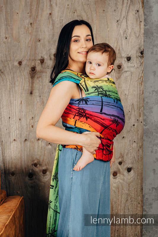 LennyHybrid Half Buckle Carrier, Standard Size, jacquard weave 100% cotton - RAINBOW ISLAND    #babywearing