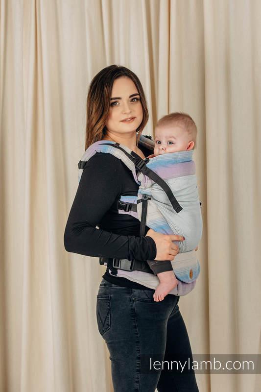 Nosidełko Siatkowe LennyUpGrade, splot skośny, (75% bawełna, 25% poliester) rozmiar standard - BASIC LINE LAWENDOWE WZGÓRZE #babywearing