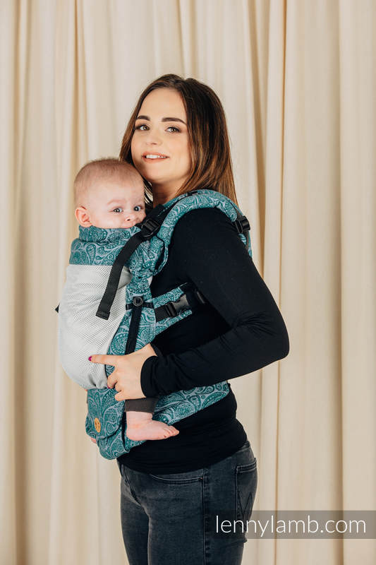 LennyUpGrade Mesh-Tragehilfe, Größe Standard, Jacquardwebung, 75% Baumwolle, 25% Poliester - PAISLEY - HABITAT #babywearing