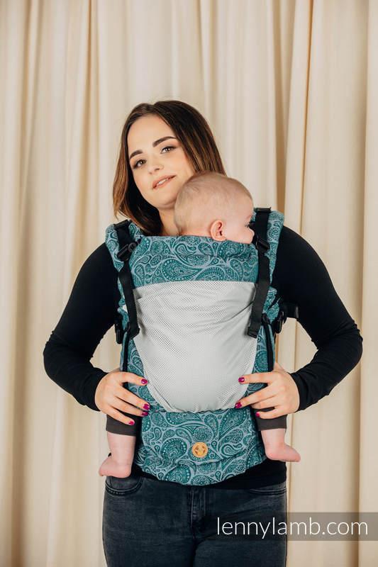 LennyUpGrade Mesh Carrier, Standard Size, jacquard weave (75% cotton, 25% polyester) - PAISLEY - HABITAT #babywearing