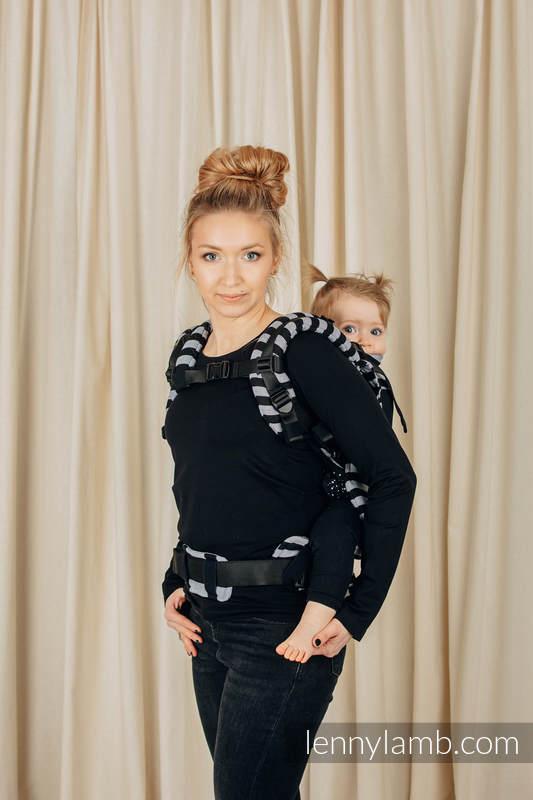 Nosidełko Siatkowe LennyUpGrade z tkaniny skośno-krzyżowej (75% bawełna, 25% poliester), rozmiar standard - ŚWIATŁA I CIENIE #babywearing