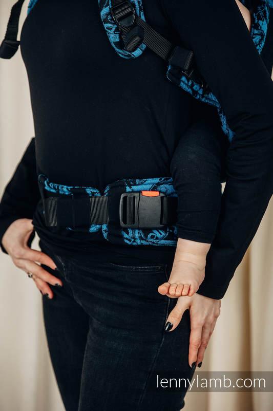 Nosidełko Siatkowe LennyUpGrade z tkaniny żakardowej (75% bawełna, 25% poliester) rozmiar standard - MECHANIZM PERPETUUM #babywearing