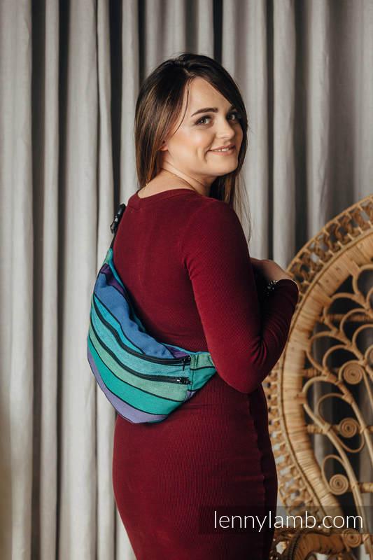 Saszetka z tkaniny chustowej, rozmiar large (100% bawełna) - PROMENADA  #babywearing