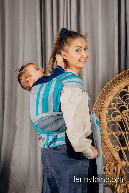 LennyHybrid Half Buckle Carrier, Standard Size, broken - twill weave 100% cotton - MISTY MORNING #babywearing