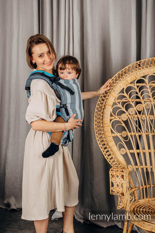 LennyUpGrade Carrier, Standard Size, broken-twill weave 100% cotton - MISTY MORNING #babywearing