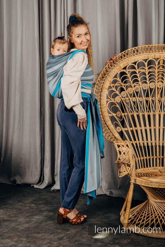 Baby Sling, Broken Twill Weave, 100% cotton,  MISTY MORNING - size M #babywearing
