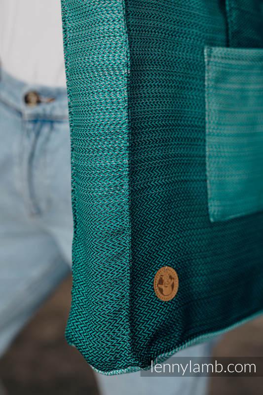 Shoulder bag made of wrap fabric (100% cotton) - LITTLE HERRINGBONE OMBRE GREEN - standard size 37cmx37cm #babywearing