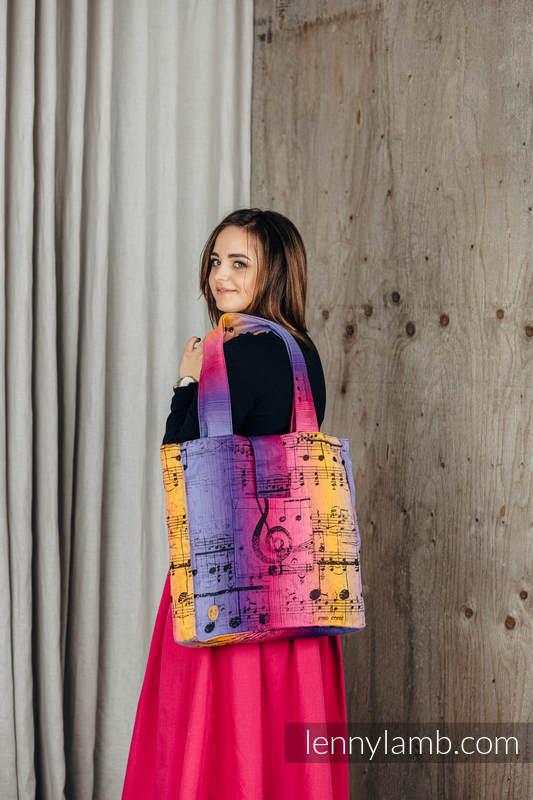Shoulder bag made of wrap fabric (100% cotton) - SYMPHONY - FRIENDS - standard size 37cmx37cm #babywearing