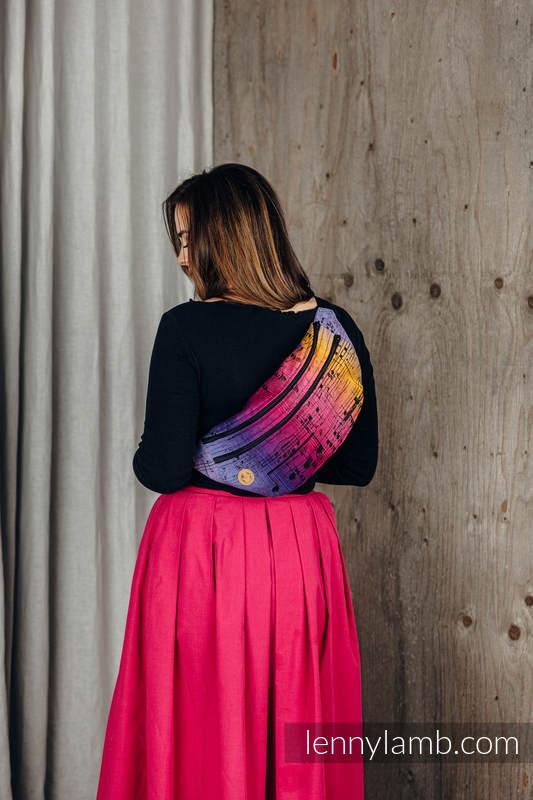 Saszetka z tkaniny chustowej, rozmiar large (100% bawełna) - SYMFONIA - FRIENDS  #babywearing