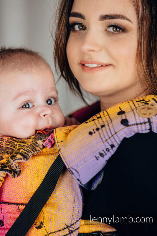Drool Pads & Reach Straps Set, (60% cotton, 40% polyester) - SYMPHONY - FRIENDS  #babywearing