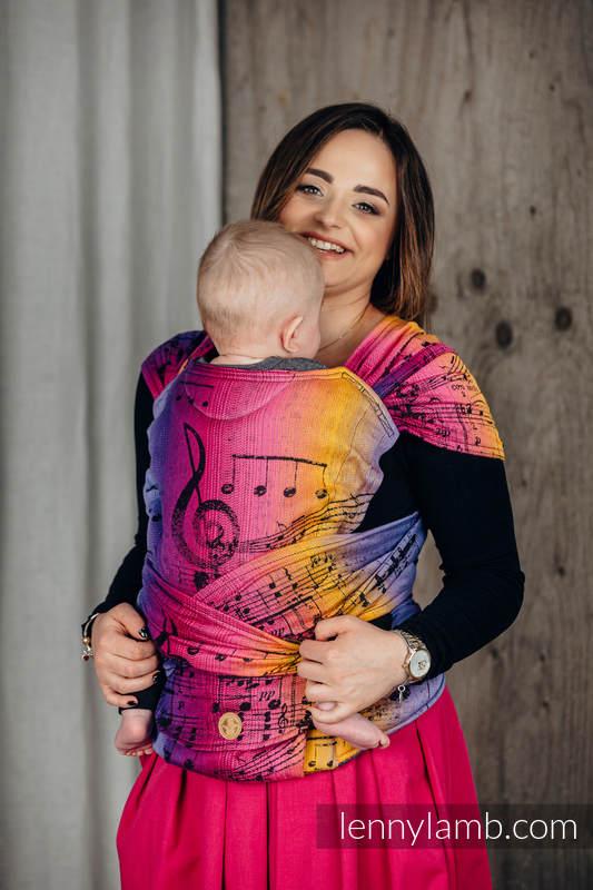 LennyHybrid Half Buckle Tragehilfe, Größe Standard, Jacquardwebung, 100% Baumwolle - SYMPHONY - FRIENDS  #babywearing