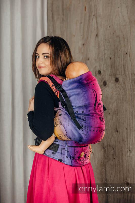 LennyPreschool Carrier, Preschool Size, jacquard weave 100% cotton - SYMPHONY - FRIENDS  #babywearing